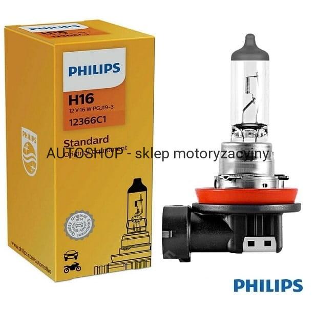 żarówka Samochodowa Halogenowa Philips 12v H16 12366c1